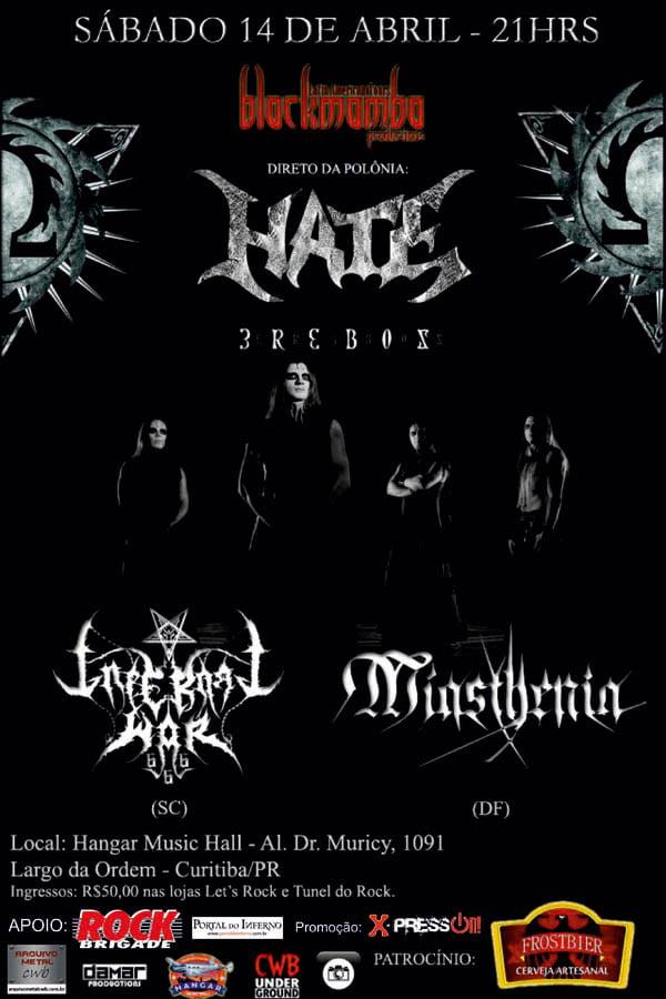 PROMOÇÃO: concorra a um par de ingressos para o show do Hate em Curitiba (ENCERRADA)