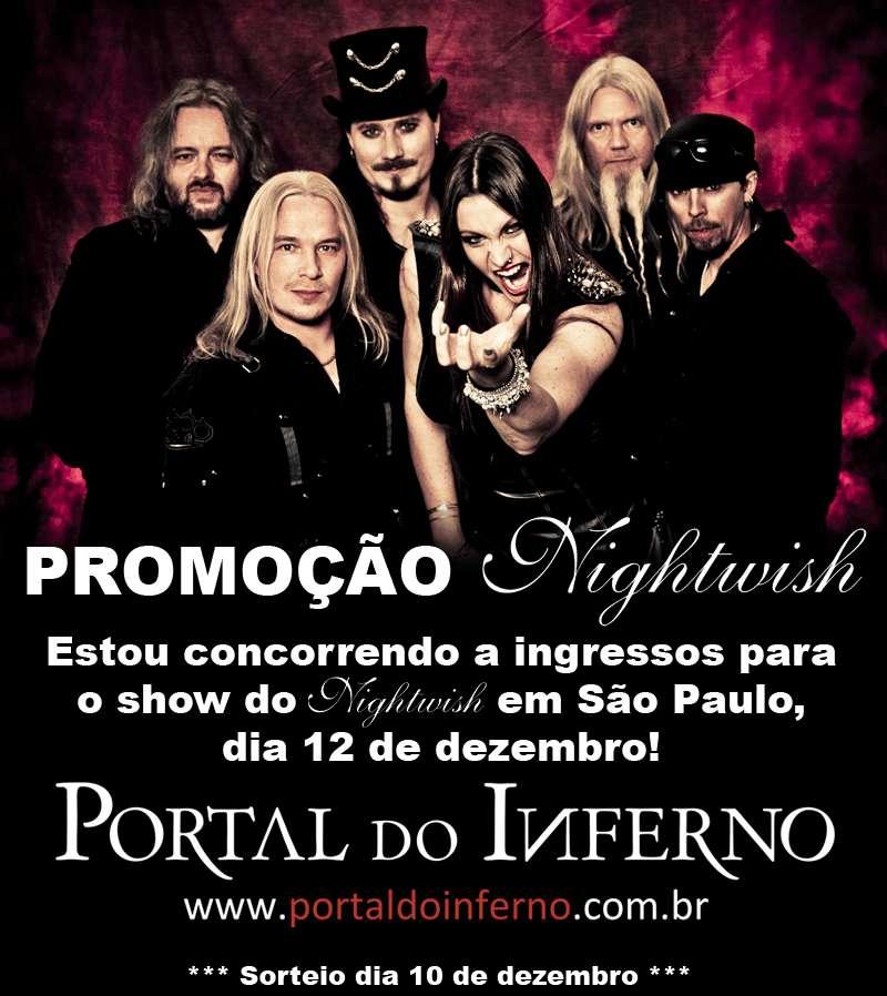 PROMOÇÃO: NIGHTWISH – concorra a ingressos para o show em SP (ENCERRADA)