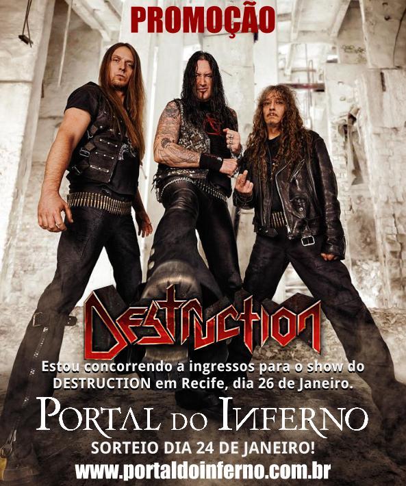 PROMOÇÃO: Destruction – concorra a ingressos para o show em Recife (Encerrada)