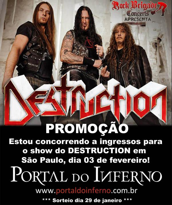 PROMOÇÃO: DESTRUCTION – concorra a ingressos para o show em São Paulo (Encerrada)