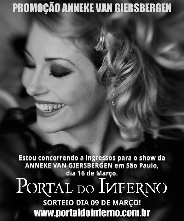 PROMOÇÃO: Anneke Van Giersbergen – concorra a ingressos para o show em São Paulo.(ENCERRADA)