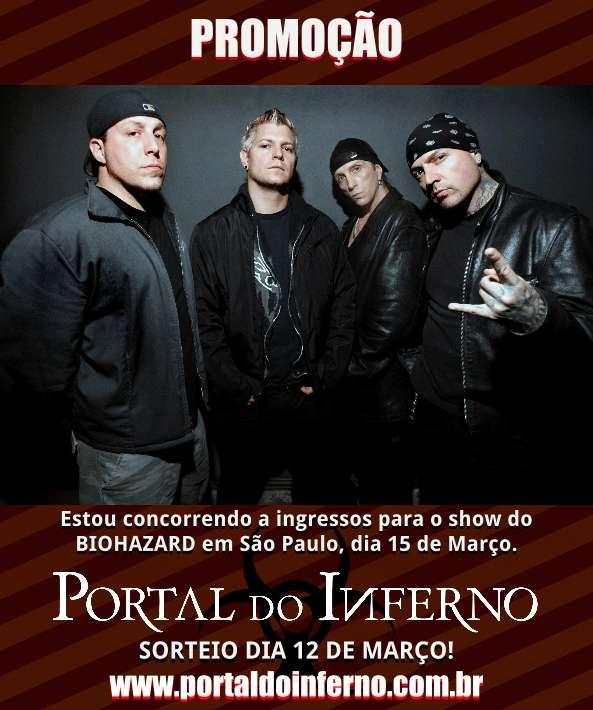 Read more about the article PROMOÇÃO: Biohazard – concorra a ingressos para o show em São Paulo (ENCERRADA)