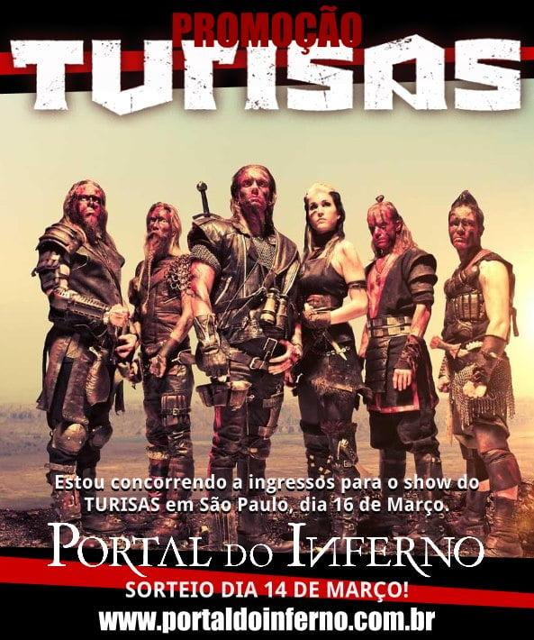 PROMOÇÃO: Turisas – concorra a ingressos para show em São Paulo (ENCERRADA)