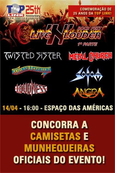 PROMOÇÃO: Live N´ Louder – concorra a camiseta e munhequeiras do festival (ENCERRADA)