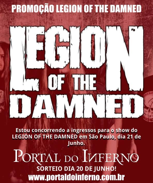 PROMOÇÃO: concorra a ingressos para o show do Legion of the Damned em São Paulo (ENCERRADA)