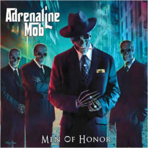 "Capa do segundo álbum do Adrenaline Mob, ""Men of Honor"""