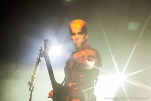 Nergal, vocalista do Behemoth (foto: henrique Pimentel)