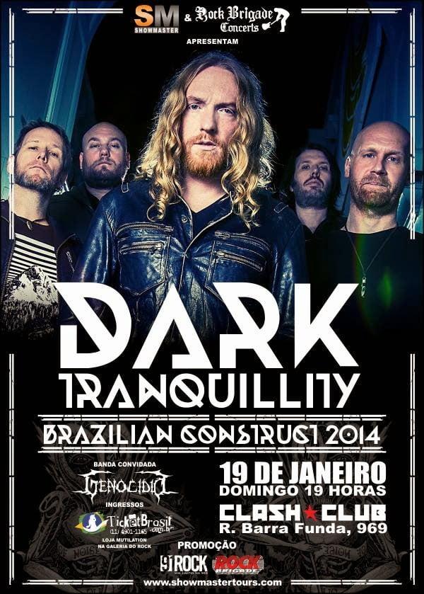 Dark Tranquillity: Genocídio fará o show de abertura em SP