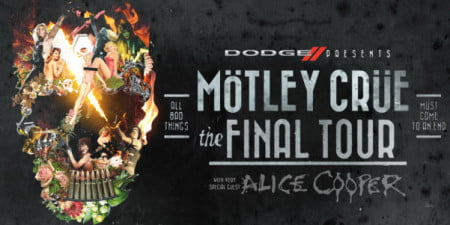 "Pôster da ""The Final Tour"" do Mötley Crüe"
