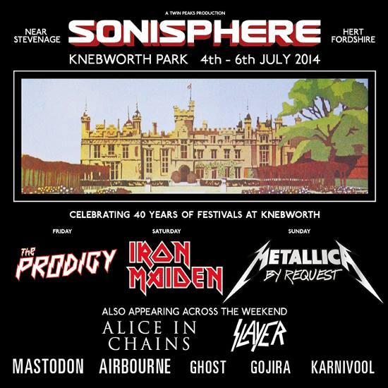 Sonisphere: festival retorna ao Reino Unido em 2014 e anuncia line-up