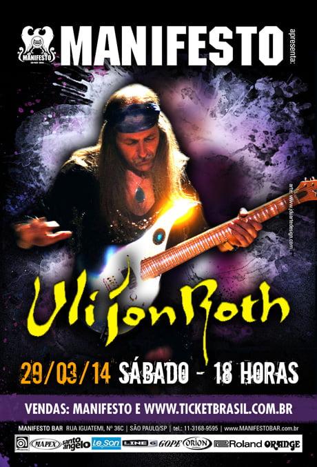 Uli Jon Roth: show no Manifesto Bar terá antigos clássicos do Scorpions