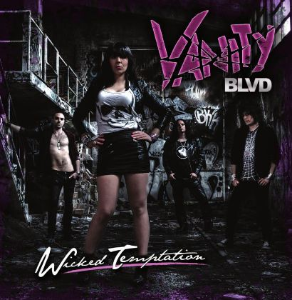 "Capa de ""Wicked Temptation"", o novo álbum do Vanity Blvd"