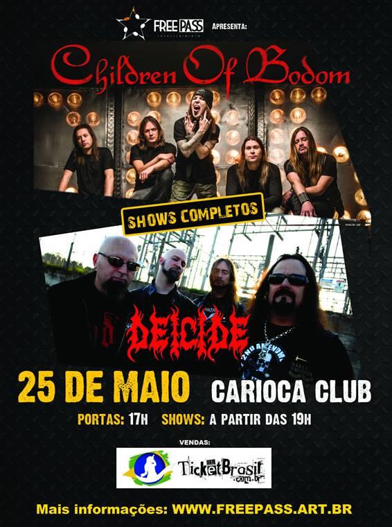 Children of Bodom e Deicide: bandas se apresentam juntas em São Paulo