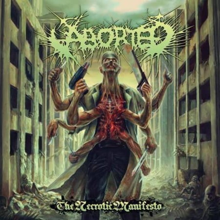 "Capa de ""The Necrotic Manifesto"", o novo disco do Aborted"