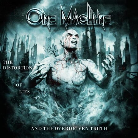 Capa de The Distortion of Lies and the Overdriven Truth, o debut do One Machine