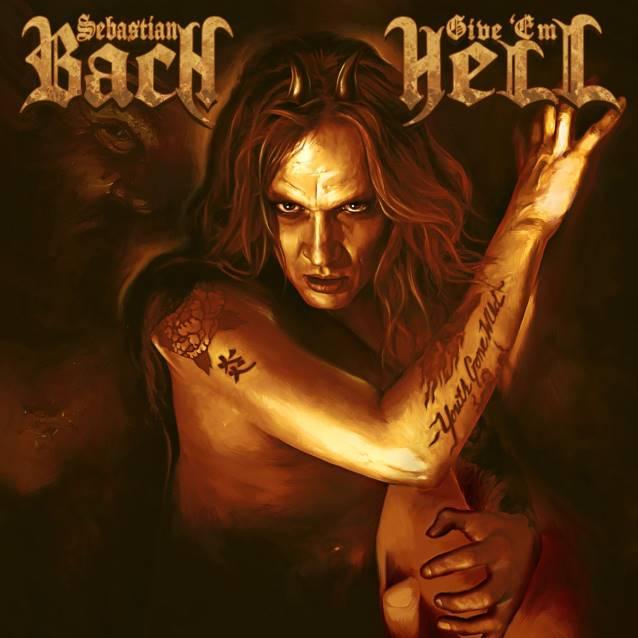 "Capa de ""Give 'Em Hell"", novo CD solo de Sebastian Bach"