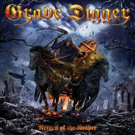 """Capa de """"Return of the Reaper"""", o novo disco do Grave Digger"""
