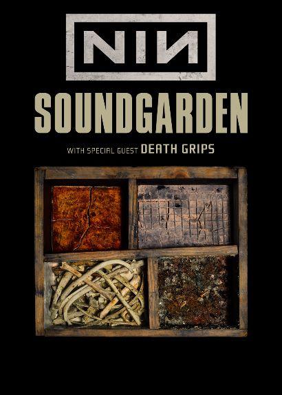 Pôster da tour conjunta do Soundgarden e Nine Inch Nails
