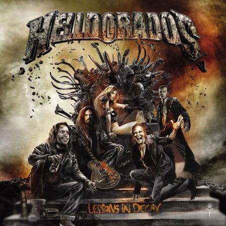 """Capa de """"Lessons in Decay"""", o próximo disco do Helldorados"""