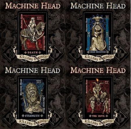 """As quatro capas do de """"Killers & Kings"""", o novo single do Machine Head"""