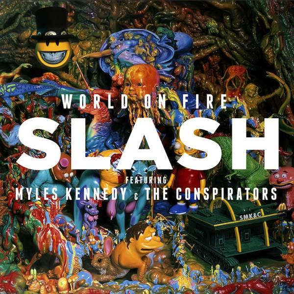 """Capa de """"World on Fire"""", novo álbum solo de Slash"""