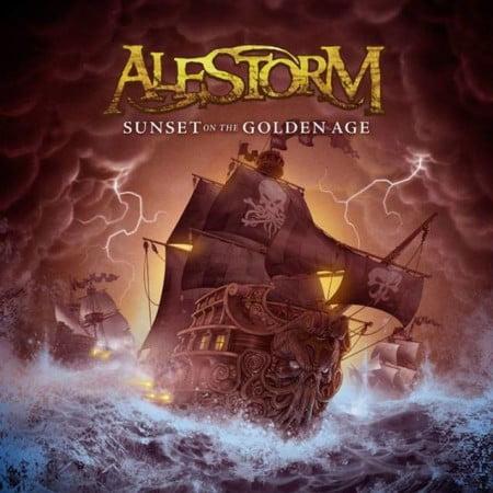 "Capa de ""Sunset on the Golden Age"", novo álbum do Alestorm"