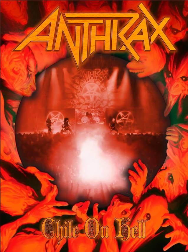 "Capa de ""Chile on Hell"", novo DVD do Anthrax"