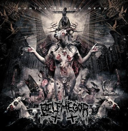 "Capa de ""Conjuring the Dead"", o novo disco do Belphegor"