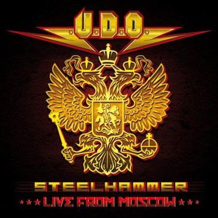 """Capa de """" Steelhammer - Live From Moscow"""", novo trabalho ao vivo do U.D.O."""