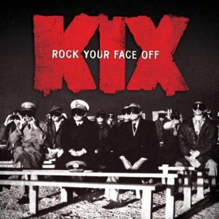 """Capa de """"Rock Your Face Off """", o novo álbum do Kix"""