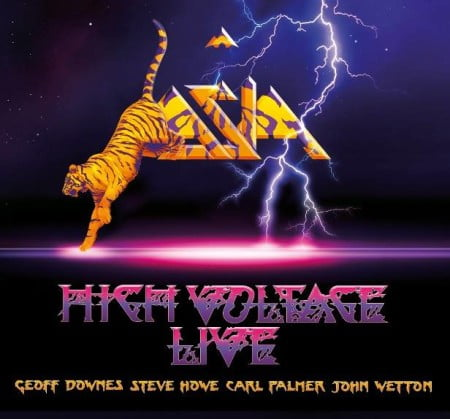 "Capa de ""High Voltage Live"", o novo CD/DVD ao vivo do Asia"