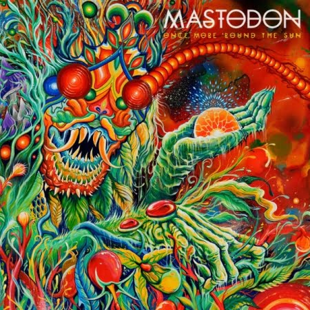 "Capa de "" Once More 'Round the Sun"", o mais recente álbum do Mastodon"