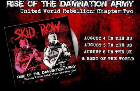 """Capa de """"Rise of the Damnation Army - United World Rebellion: Chapter Two"""", novo EP do Skid Row"""