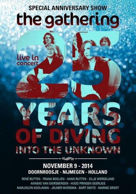 Cartaz do show comemorativo pelos 25 anos do The Gathering