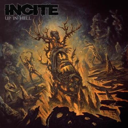 """Capa de """"Up in Hell"""", o novo disco do Incite"""