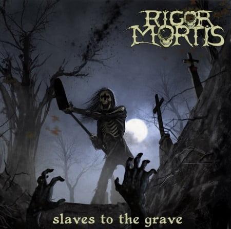 """Capa de """"Slaves to the Grave"""", o novo CD do Rigor Mortis"""
