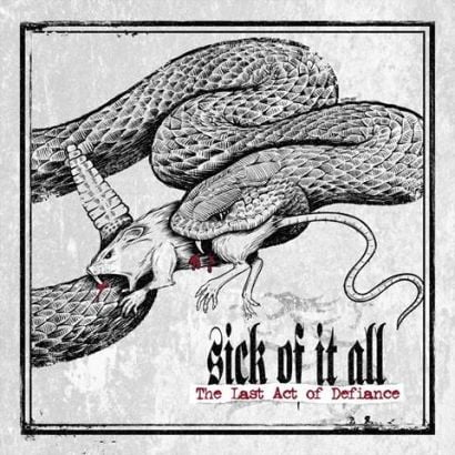 "Capa de ""The Last Act of Defiance"", o próximo disco do Sick of It All"