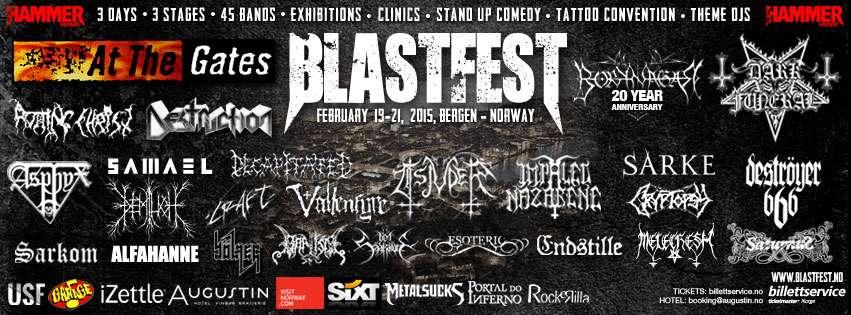 Blastfest: festival norueguês anuncia mais oito bandas para 2015