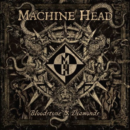 "Capa de ""Bloodstone & Diamonds"", o novo álbum do Machine Head"