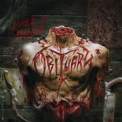 "Capa de ""Inked in Blood"", o próximo disco de inéditas do Obituary"