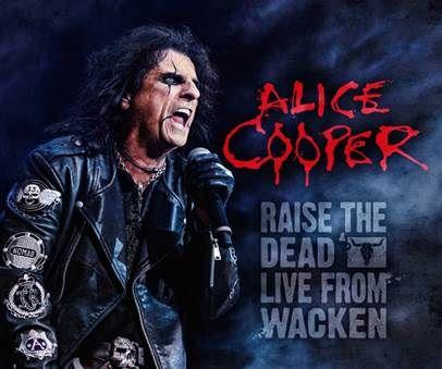 """Capa de """"Raise the Dead – Live from Wacken"""", novo DVD de Alice Cooper"""