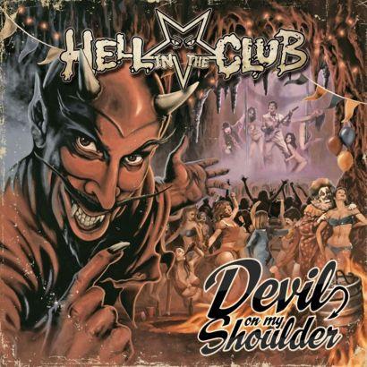 "Capa de ""Devil on My Shoulder"", o novo álbum do Hell in the Club"