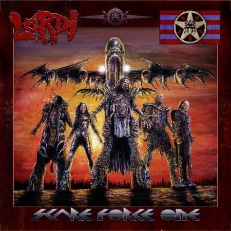 "Capa de ""Scare Force One"", o novo álbum do Lordi"