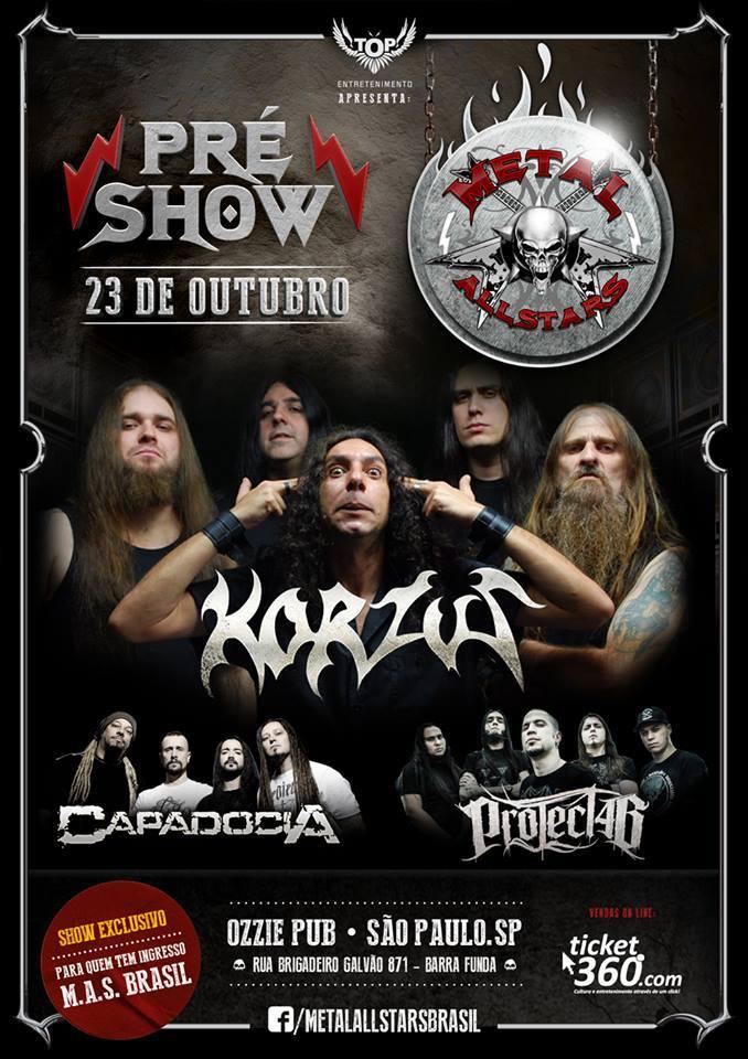 Metal allstars: festa oficial do evento acontece amanhã em São Paulo
