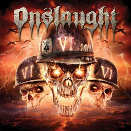 "Capa de ""VI"", o sexto e mais recente disco do Onslaught"