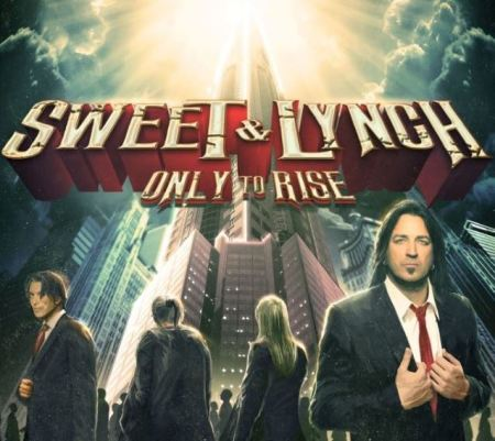 "Capa de ""Only to Rise"", o debut do Sweet & Lynch"