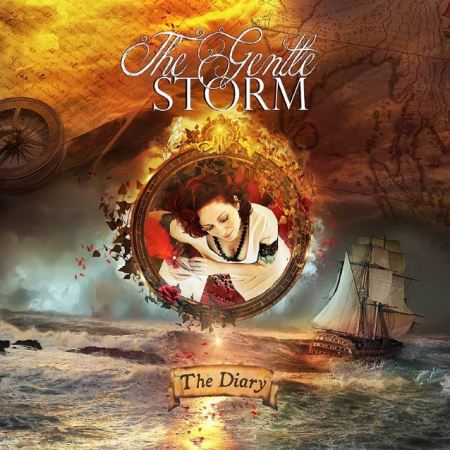 "Capa de ""The Diary"", o debut do projeto The Gentle Storm"