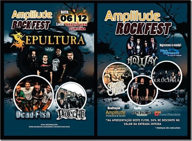 Read more about the article Amplitude Rock Festival: Sepultura, Dead Fish e Project46 agitam Curitiba neste sábado