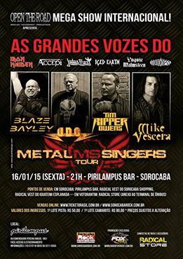 Metal Singers: grandes ícones do metal mundial tocam neste sábado na Clash Club