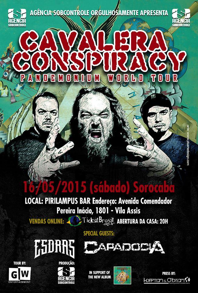 Cavalera Conspiracy: banda confirma apresentação em Sorocaba